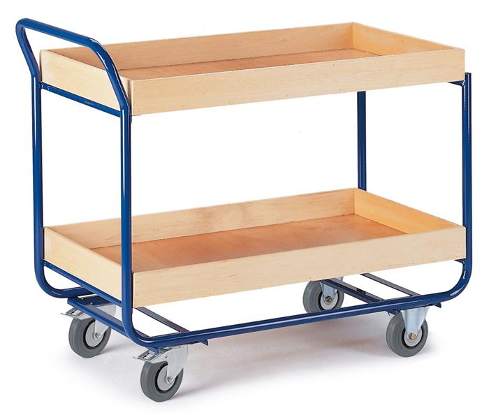 tischwagen mit profillleisten mit schiebeb gel zwei etagen. Black Bedroom Furniture Sets. Home Design Ideas